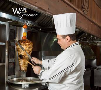 Chicken Shawerma Station for 35 Persons